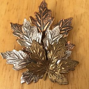 Autumn Maple Leaf Multi Layered Brooch/Pin
